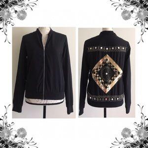 {Missguided} Sequin Embellished Bomber Jacket
